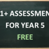 11+ Assessment For Year 5